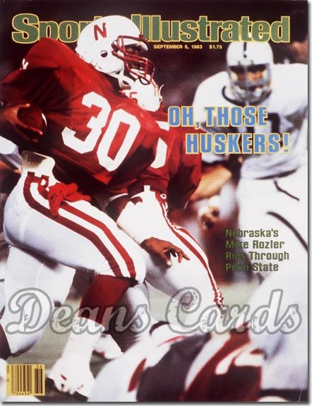 1983 Sports Illustrated - With Label   September 5  -  Mike Rozier Nebraska Cornhuskers