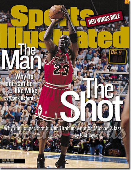1998 Sports Illustrated   June 22  -  Michael Jordan (Chicago Bulls)