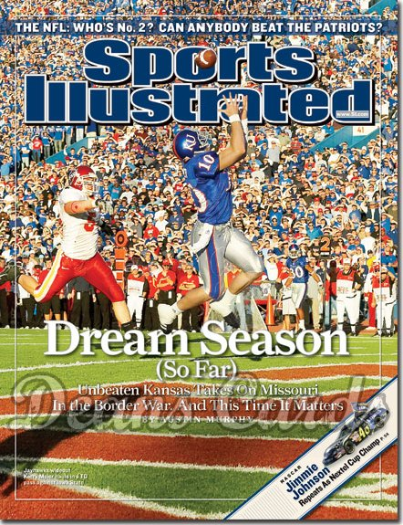 2007 Sports Illustrated   November 26  -  Kerry Meier Jayhawks Football