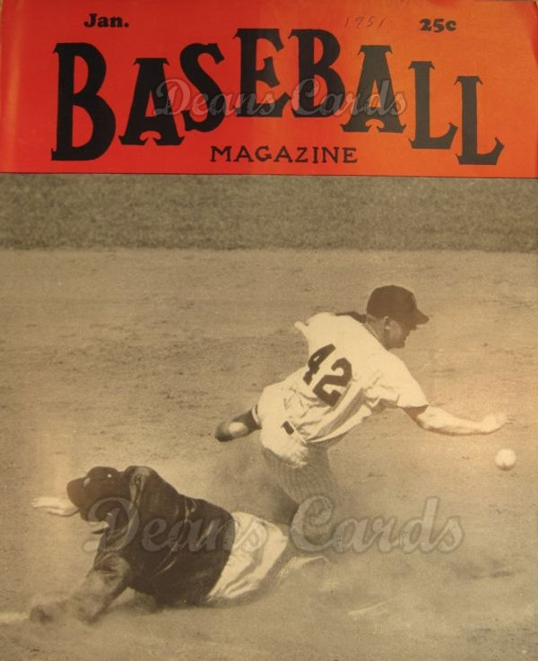 1951 Baseball Magazine    January