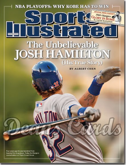 2008 Sports Illustrated   June 2  -  Josh Hamilton