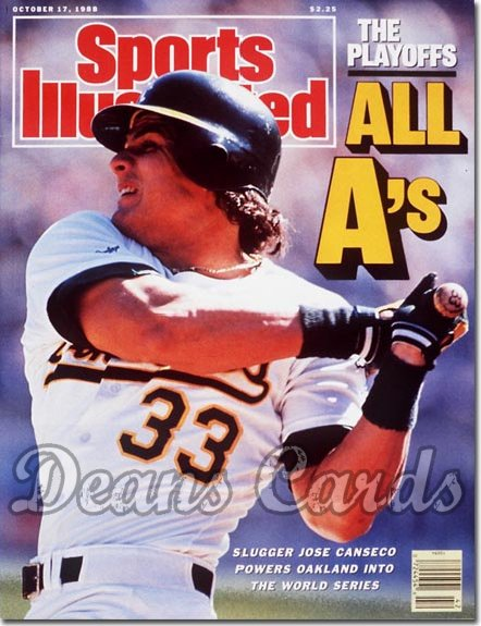 1988 Sports Illustrated - With Label   October 17  -  Jose Canseco (Oakland A's)