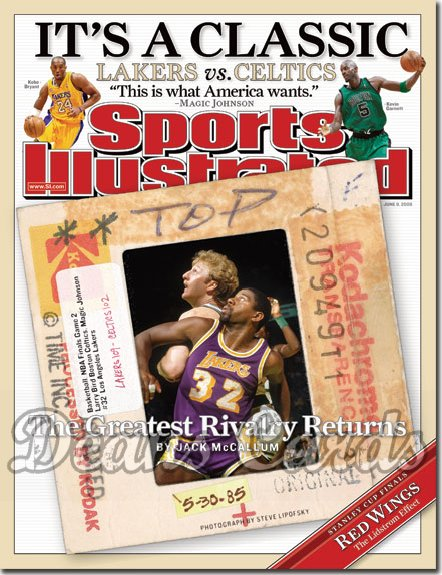 2008 Sports Illustrated - With Label   June 9  -  Magic Johnson LA Lakers