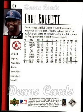 2001 Upper Deck #103  Carl Everett