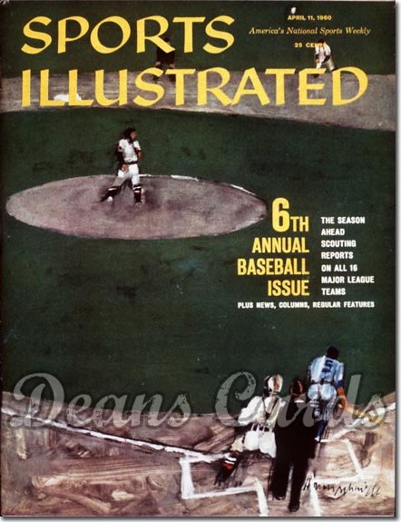 1960 Sports Illustrated - With Label   April 11  -  Baseball Issue