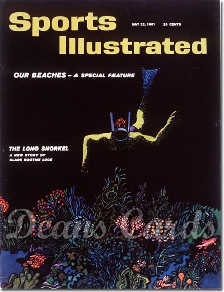 1961 Sports Illustrated - With Label   May 22  -  Snorkeling