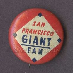 1969 Cranes Potato Chip Pin #17   San Francisco Giants