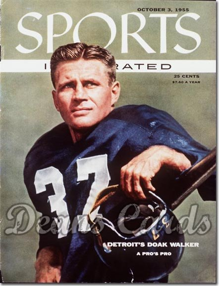 1955 Sports Illustrated   October 3  -  Doak Walker Detroit Lions