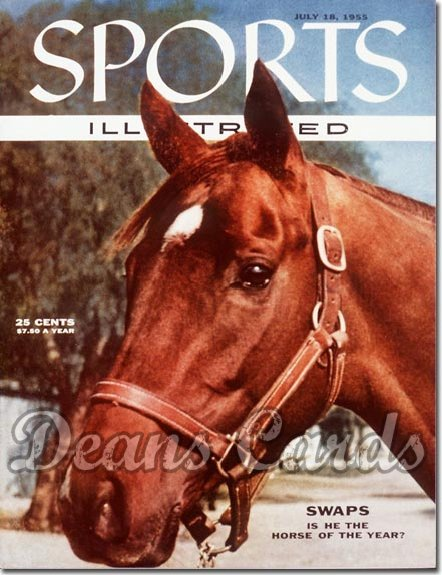 1955 Sports Illustrated - With Label   July 18  -  Swaps Horseracing