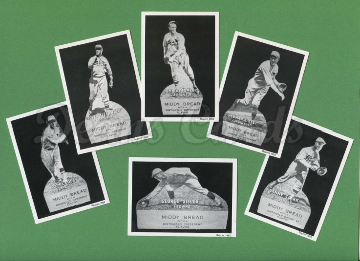 1927 Middy Bread Reprint     Complete Set