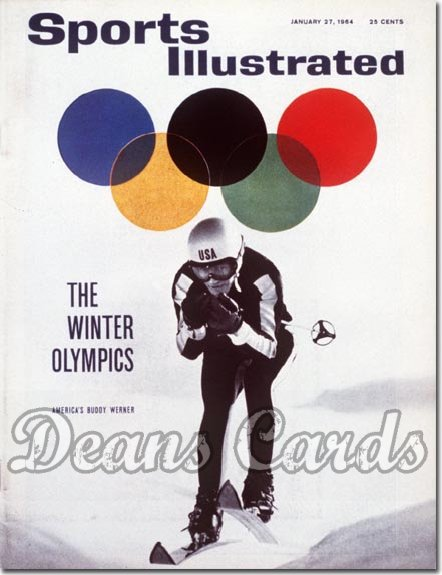 1964 Sports Illustrated - With Label   January 27  -  Buddy Werner (Skiing / Skier)