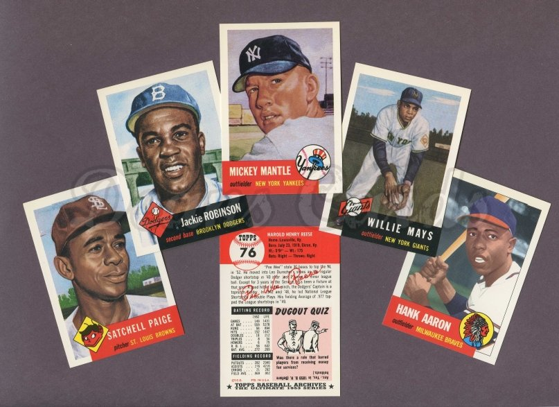 1953 Topps REPRINT    Topps Baseball Archives Reprint Complete Set