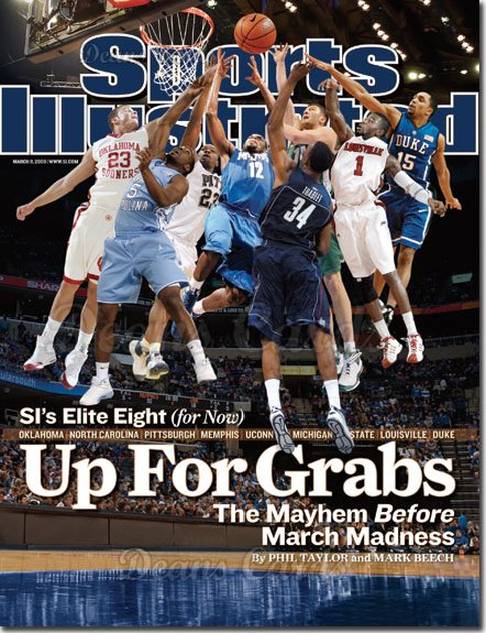 2009 Sports Illustrated - With Label   March 9  -  Elite Eight Players at Net