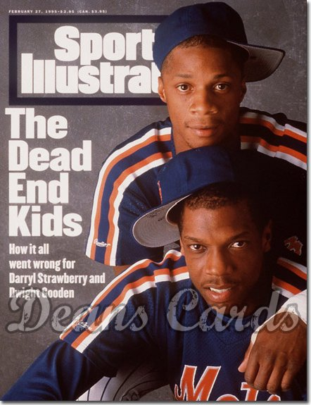 1995 Sports Illustrated - With Label   February 27  -  Dwight Gooden & Darryl Strawberry (NY)