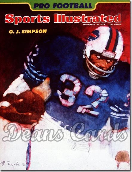 1974 Sports Illustrated - With Label   September 16  -  O.J. Simpson (Buffalo)