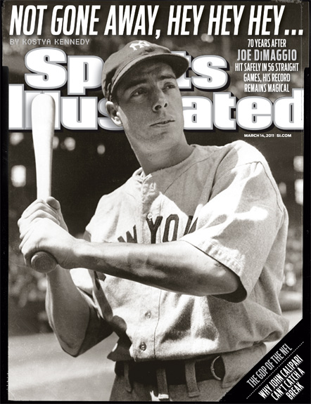 2011 Sports Illustrated - With Label   March 14  -  Joe DiMaggio / Yankees