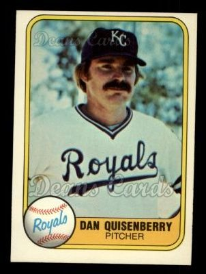 1981 Fleer #31  Dan Quisenberry