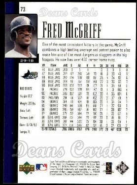 2001 Upper Deck #73  Fred McGriff