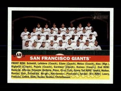 2005 Topps Heritage #226   San Francisco Giants Team