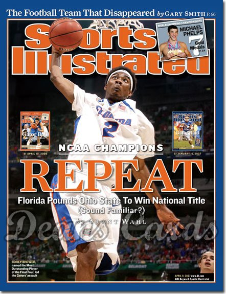 2007 Sports Illustrated - With Label   April 9  -  Corey Brewer Florida Gators