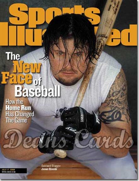 2000 Sports Illustrated   July 17  -  Jason Giambi (Oakland A's)