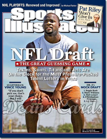 2006 Sports Illustrated   May 1  -  Vince Young