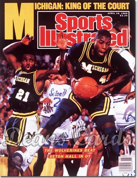 1989 Sports Illustrated - With Label   April 10  -  Glenn Rice & Rumeal Robinson (Michigan Wolverines)