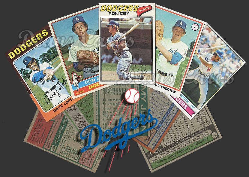 1975 Topps   -79  Los Angeles Dodgers Team Starter Set / Lot - Md