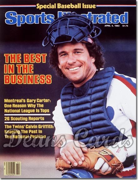 1983 Sports Illustrated - With Label   April 4  -  Gary Carter Montreal Expos