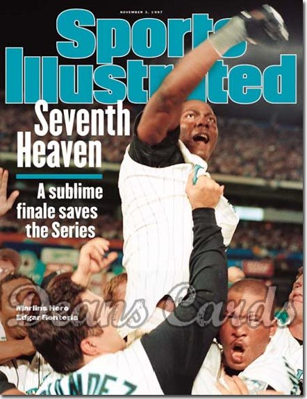 1997 Sports Illustrated   November 3  -  Edgar Renteria & Gary Sheffied (Florida Marlins)