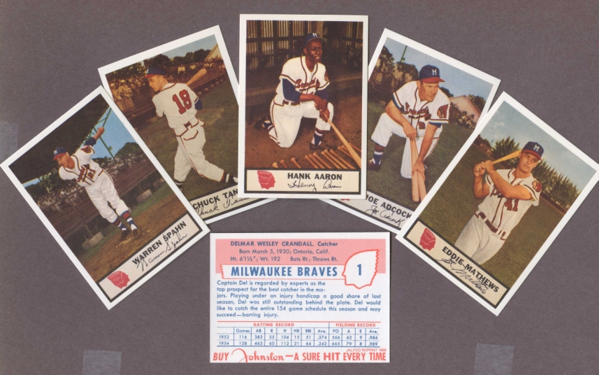 1955 Johnston Cookies Reprints    Braves Johnston Cookies Complete Reprint Set
