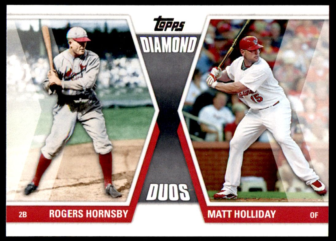 2011 Topps Diamond Duos #10 DD1  -  Rogers Hornsby / Matt Holliday Diamond Duos