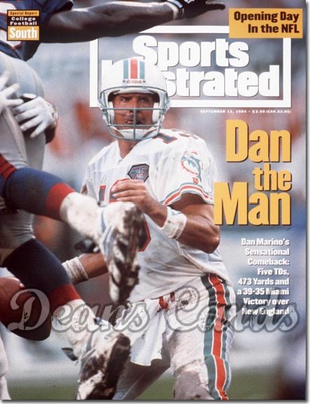 1994 Sports Illustrated - With Label   September 12  -  Dan Marino (Miami Dolphins)