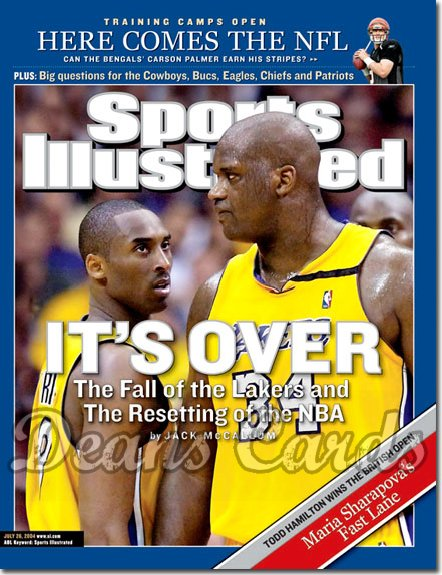 2004 Sports Illustrated - With Label   July 26  -  Shaquille O'neal Kobe Bryant LA Lakers