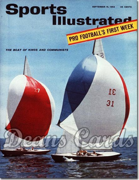 1963 Sports Illustrated - With Label   September 16  -  Sail Boat Racing