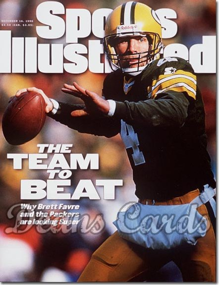 1996 Sports Illustrated - With Label   December 16  -  Brett Favre (Green Bay Packers)