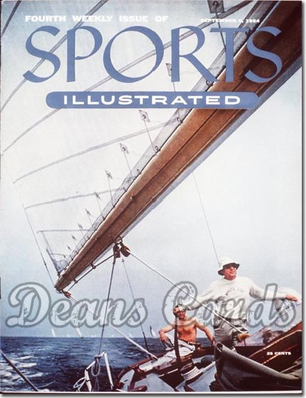 1954 Sports Illustrated   September 6  -  Sailing (4th Issue)
