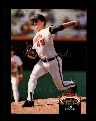 1992 Topps Stadium Club #412  Jim Poole