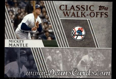 2012 Topps Classic Walk-Offs Inserts #7 CW  -  Mickey Mantle 10/10/1964