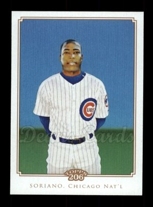 2010 Topps 206 #284  Alfonso Soriano