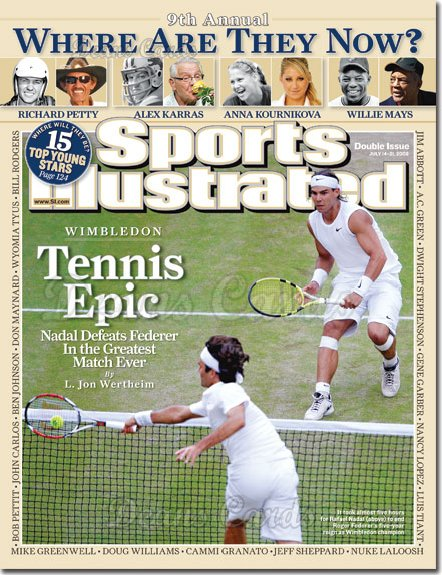 2008 Sports Illustrated   July 14  -  Rafael Nadal/Roger Federer Wimbledon
