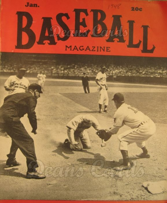 1948 Baseball Magazine    January
