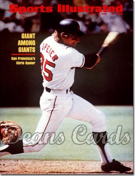 1973 Sports Illustrated - With Label   April 30  -  Chris Speier (San Francisco Giants)