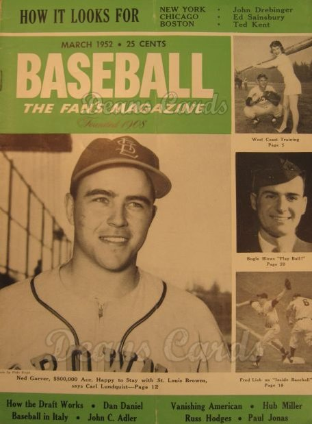 1952 Baseball Magazine    March