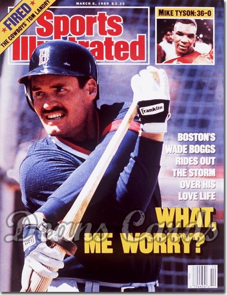 1989 Sports Illustrated - With Label   March 6  -  Wade Boggs (Boston Red Sox)