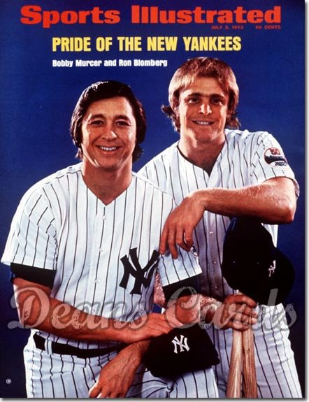 1973 Sports Illustrated - With Label   July 2  -  Bobby Murcer & Ron Blomberg (New York Yankees)