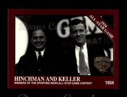 1994 Conlon Burgundy #1113   -  Bill Hinchman / Edward Keller 1934 All-Star Game