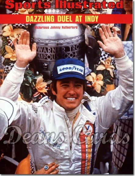 1974 Sports Illustrated - With Label   June 3  -  Johnny Rutherford