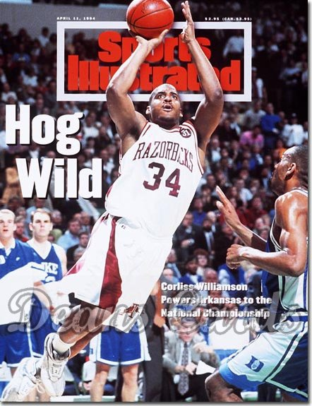 1994 Sports Illustrated - With Label   April 11  -  Corliss Williamson (Arkansas Razorbacks)