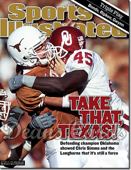 2001 Sports Illustrated   October 15  -  Jimmy Wilkerson & Chris Simms Sooners vs Longhorns